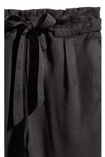 Lyocell trousers - Black - Ladies | H&M 3