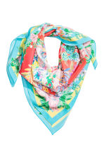 Patterned silk scarf - Coral - Ladies | H&M 1