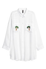 貼花襯衫 - White/Palms - Ladies | H&M 2