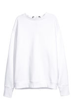 Laced-back sweatshirt - White - Ladies | H&M CN 2