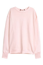 Laced-back sweatshirt - Light pink - Ladies | H&M CN 2