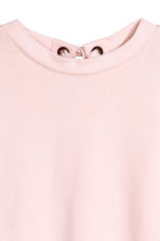 Laced-back sweatshirt - Light pink -  | H&M CA 3