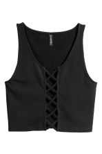 Vest top with lacing - Black - Ladies | H&M CN 2