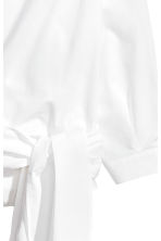 Cotton wrapover blouse - White -  | H&M CA 3