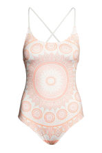 Swimsuit with lacing - White/Patterned - Ladies | H&M 1