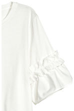 Top with flounced sleeves - White -  | H&M CN 3