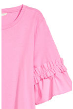 Top with flounced sleeves - Pink - Ladies | H&M 3