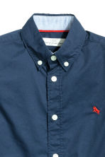 Cotton shirt - Dark blue - Kids | H&M 4