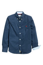 Cotton shirt - Dark blue - Kids | H&M 3