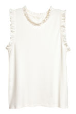 Sleeveless top - White - Ladies | H&M CN 2