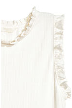 Sleeveless top - White - Ladies | H&M CN 3