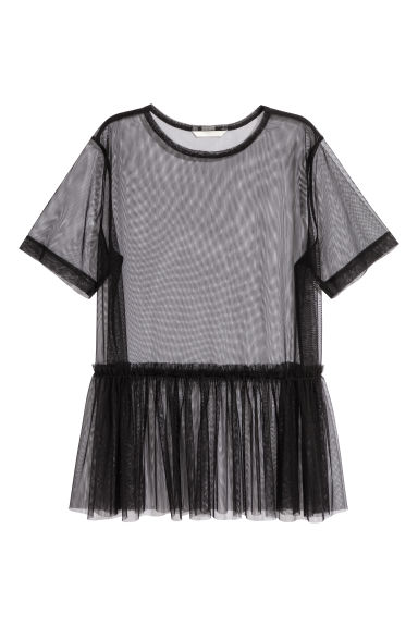 Top in mesh - Nero - DONNA | H&M IT 1