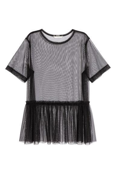Top en mesh - Noir - FEMME | H&M FR 1