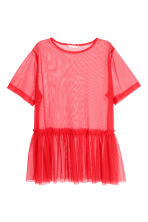 Mesh top - Red - Ladies | H&M 2