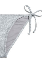 Tie tanga bikini bottoms - Grey marl - Ladies | H&M 3