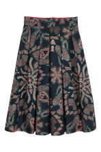 Patterned cotton skirt - Dark blue/Patterned - Ladies | H&M 2