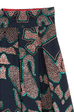 Patterned cotton skirt - Dark blue/Patterned - Ladies | H&M 3