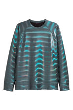 Coated sweatshirt - Black/Metallic - Men | H&M GB 2