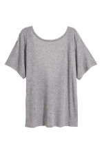 Silk-blend jersey top - Grey marl -  | H&M CA 2