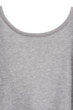 Silk-blend jersey top - Grey marl - Ladies | H&M 4