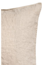 Washed linen pillowcase - Linen beige - Home All | H&M CN 2