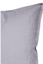 Washed linen pillowcase - Light purple - Home All | H&M IE 2