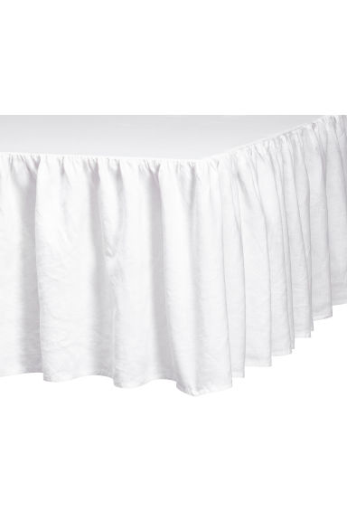 Washed linen valance - White - Home All | H&M GB 1