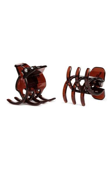 2-pack hair clips - Brown - Ladies | H&M 1