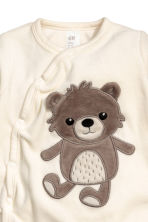 Velours pyjama - Wit/teddybeer - KINDEREN | H&M BE 2