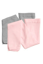 2-pack microfibre leggings - Light pink - Kids | H&M 2