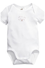 6-pack bodysuits - White/Panda - Kids | H&M 2