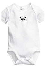 6-pack bodysuits - White/Panda - Kids | H&M 3