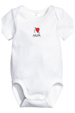 6-pack bodysuits - White/Heart - Kids | H&M 3