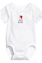 6-pack bodysuits - White/Heart - Kids | H&M 2