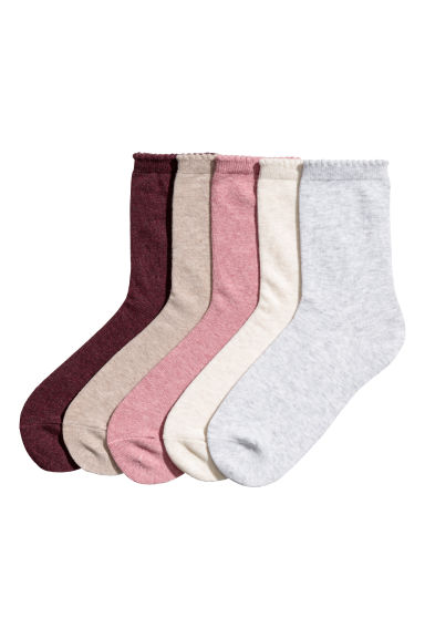 5-pack socks - Dark pink - Ladies | H&M IE 1