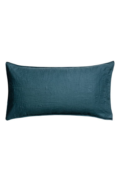 Washed linen pillowcase - Turquoise - Home All | H&M CN 1