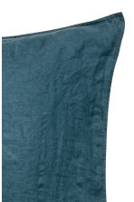 Washed linen pillowcase - Turquoise - Home All | H&M CN 2