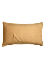 Washed linen pillowcase - Light mustard yellow - Home All | H&M CN 1