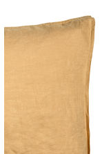 Washed linen pillowcase - Light mustard yellow - Home All | H&M CN 2