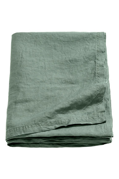 Nappe en lin lavé - Vert ancien - Home All | H&M FR 1
