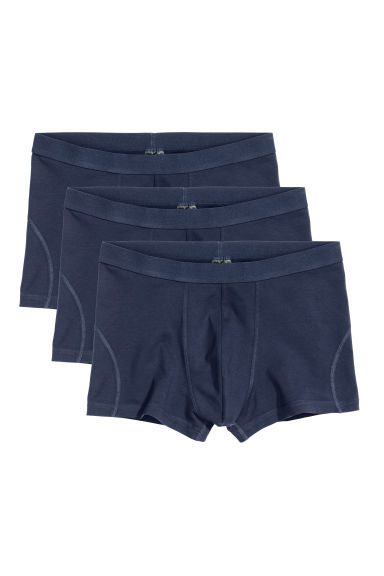3-pack trunks - Dark blue -  | H&M IE