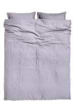 Washed linen duvet cover set - Purple grey - Home All | H&M IE 1