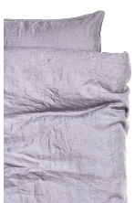 Washed linen duvet cover set - Purple grey - Home All | H&M IE 2