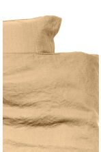 Washed linen duvet cover set - Light mustard yellow - Home All | H&M CN 2