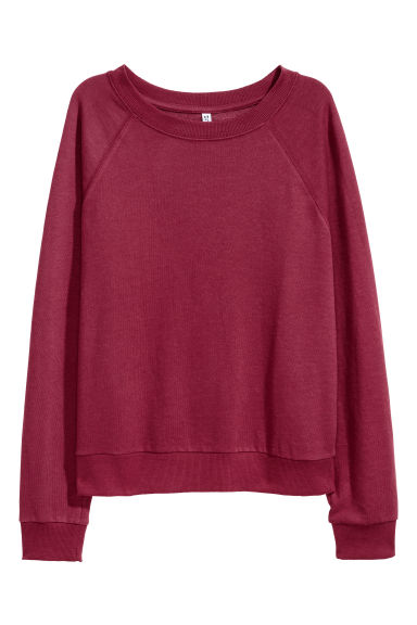 Sweatshirt - Burgundy - Ladies | H&M CA 1