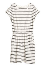 Short-sleeved jersey dress - White/Striped - Ladies | H&M 1