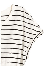 Short-sleeved jersey dress - White/Striped - Ladies | H&M 2