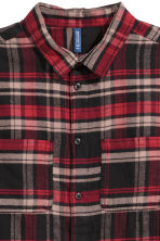 Flannel shirt - Black/Red checked - Men | H&M CN 3