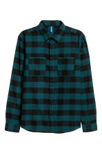 Petrol/Black checked