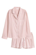 Pyjama shirt and shorts - Light pink/Stars -  | H&M GB 2